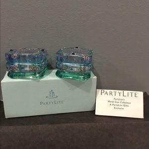 PartyLite Mardi Gras - Tea light holders NIB